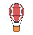 color image red striped hot air balloon with vector image vector image