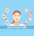 colourful medical cosmetic procedures vector image vector image