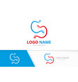 creative stomach logotype design template stomach vector image vector image