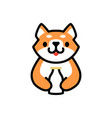 cute shiba inu milk bottle dog cartoon logo icon vector image