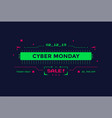 cyber monday sale with technology interface design vector image