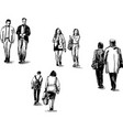drawing people are walking vector image vector image