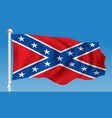 flag of confederate vector image vector image