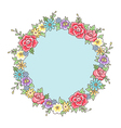 Flower wreath vector image