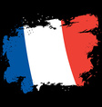 France flag grunge style Brush strokes and ink vector image vector image