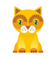 funny red Cat on white background vector image vector image
