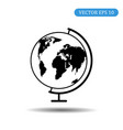 globe icon with map eps 10 vector image vector image