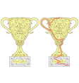 gold cup maze vector image vector image