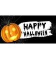 Halloween pumpkin label vector image vector image