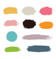 hand drawn paint strokes vector image