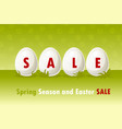 happy easter eggs on grass spring vector image