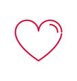 happy valentines day heart love romantic red line vector image vector image