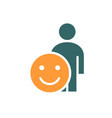 human with positive emotions colored icon happy vector image vector image