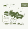 infographics renewable source of tidal energy vector image vector image