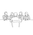 job interview process concept one single line vector image