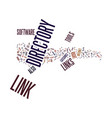 link directory tools text background word cloud vector image vector image