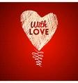 Love hearts sketch hand drawn card vector image vector image