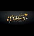 merry christmas gold message and star ball vector image vector image