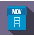 MOV file icon flat style vector image vector image