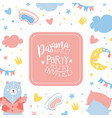pajama party banner template childish slumber vector image vector image
