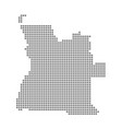 pixel map of angola dotted map of angola isolated vector image vector image