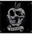 Poison Apple Skull vector image vector image