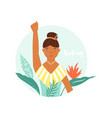 protesting girl girl power vector image vector image