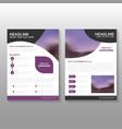 Purple business proposal Leaflet Brochure Flyer