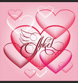 romantic design element - heart and lettering for vector image vector image