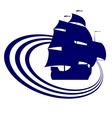 Sailing ship-7 vector image vector image