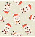 santa claus christmas seamless pattern theme for vector image vector image