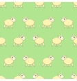 Seamless pattern with cute sheep on grass vector image vector image