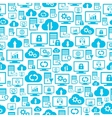 Seamless pattern with hosting cloud icons vector image vector image
