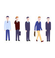set businessman or manager in different poses vector image