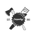 set carpentry logo templates vector image
