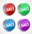 set colorful 3d sale labels vector image vector image