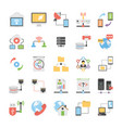 set of communication and networking icons vector image