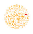 social media icons set 2 vector image