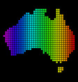 spectrum pixel dotted australia map vector image
