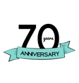 Template Logo 70 Years Anniversary vector image vector image