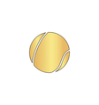 tennis ball computer symbol vector image vector image