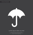 umbrella premium icon white on dark background vector image vector image