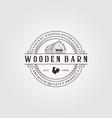 vintage farmhouse logo design barn logo design vector image vector image