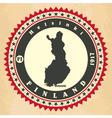Vintage label-sticker cards of Finland vector image