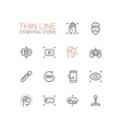 Virtual Reality - Thin Single Line Icons Set vector image vector image