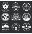 wine monochrome emblems vector image vector image