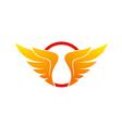 wing abstract circle logo vector image vector image
