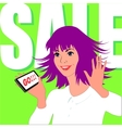 Woman enjoys sale vector image