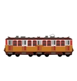 Yellow color train wagon vector image