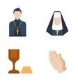 Catholic priest icon vector image